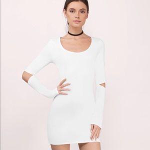 EUC TOBI Bodycon Ivory Cutout Dress, S